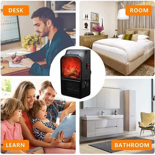 500W Mini Electric Heater Portable Heater Uses