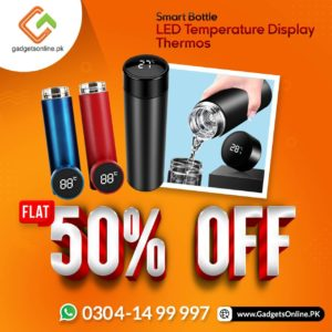Smart Bottle with LED notification at amazing discount